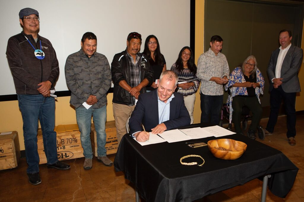 PureGold President and CEO Darin Labrenz Signing First Nations Agreement, 2019